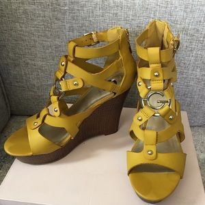 G by Guess Yellow Wedges Heels